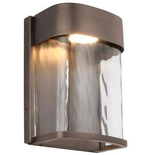 Zewnętrzna LAMPA ścienna BENNIE FE/BENNIE/S ANBZ Elstead FEISS elewacyjna OPRAWA ogrodowa LED 14W kinkiet IP44 brąz
