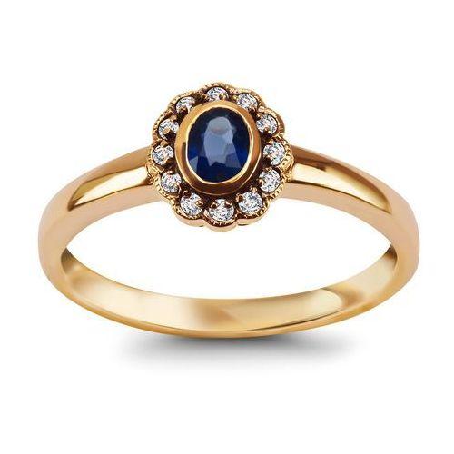 Kolekcja wiktoriańska - pierścionek z szafirami marki Biżuteria yes