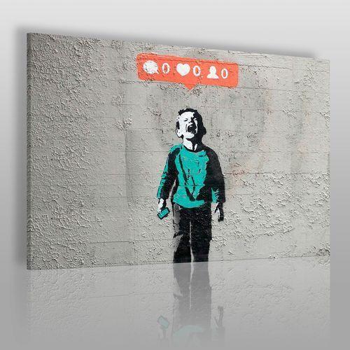 Vaku-dsgn Banksy - social media - nowoczesny obraz na płótnie
