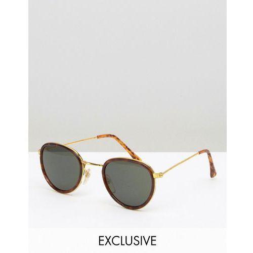 inspired round sunglasses with gold frame tortoiseshell - brown marki Reclaimed vintage