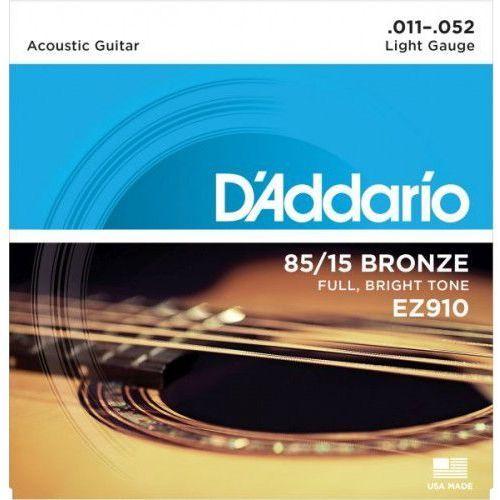 Daddario ez910 struny do gitary akustycznej marki D'addario