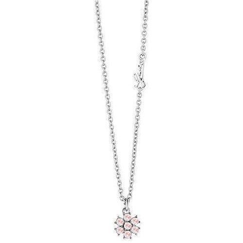 Guess Naszyjnik z różowych Crystalów California Sunlight UBN61071, kolor różowy