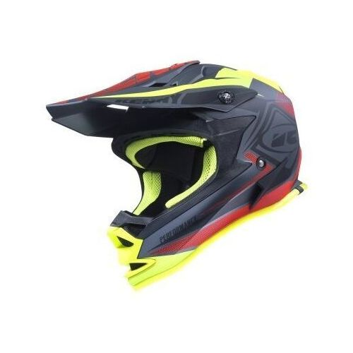 kask performance kid black/red/yellow 2017 marki Kenny