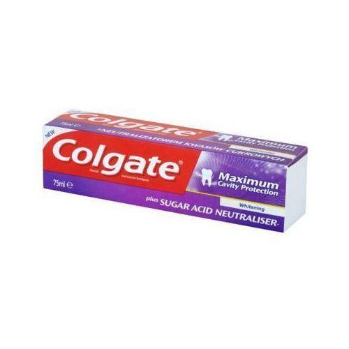 Colgate 75ml maximum cavity protection whitening pasta z zawartością fluoru i wapnia
