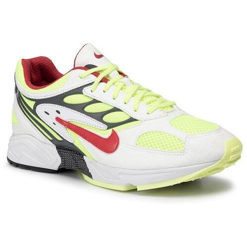 Buty - air ghost racer at5410 100 white/atom red/neon yellow, Nike, 41-46