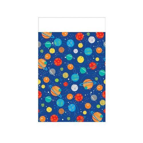 Obrus urodzinowy kosmos - 137x259 cm - 1 szt., OBFOL/5780-A