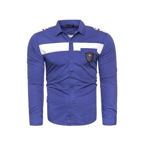 55038e366eb6 Risardi Wyprzedaż koszula style209 - niebieska