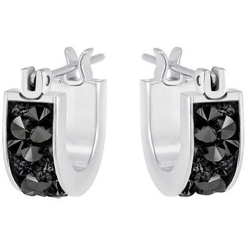 crystaldust hoop pierced earrings, small, black dark multi stainless steel od producenta Swarovski