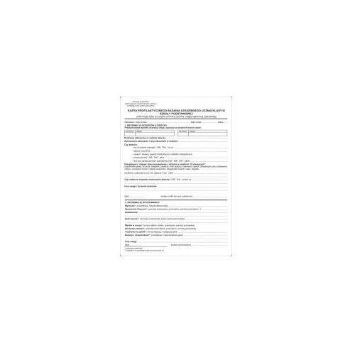 Karta profilaktycznego badania lekarskiego ucznia III klasy szkoły podstawowej [Mz/Hsz-20], 47564