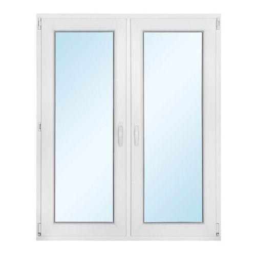 Okno PCV rozwierne + rozwierno-uchylne z mikrowentylacją 1165 x 1435 mm symetryczne