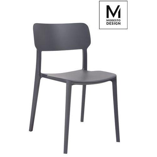 King home Modesto krzesło agat grafitowe - polipropylen (5900168801219)