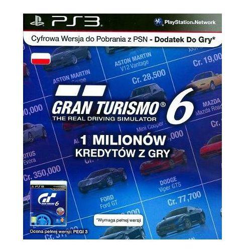 Sony Karta gran turismo 6 - 1 milion kredytów