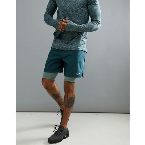 Nike Running Flex Distance 7 Inch 2-In-1 Shorts In Green 892905-328 - Green