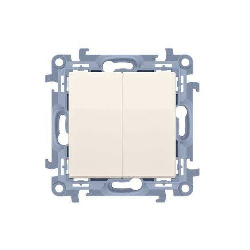 SIMON 10 Łącznik świecznikowy do wersji IP44 (moduł) 10AX, 250V~, zaciski śrubowe; krem !Posiada wkładkę uszczelniającą pod klawisze CW5B.01/41 WC-W5Bxxxx-01-41xx