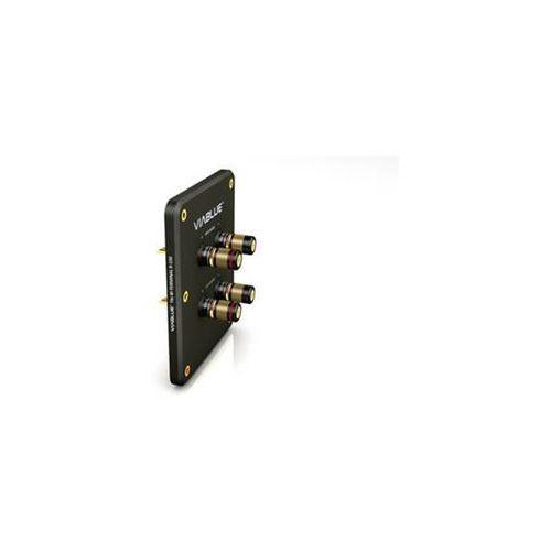 Viablue T6s Bi-Terminal R-150 Black with binding post - terminal głośnikowy z gniazdami - Black \ Bi-wire (4048834300855)