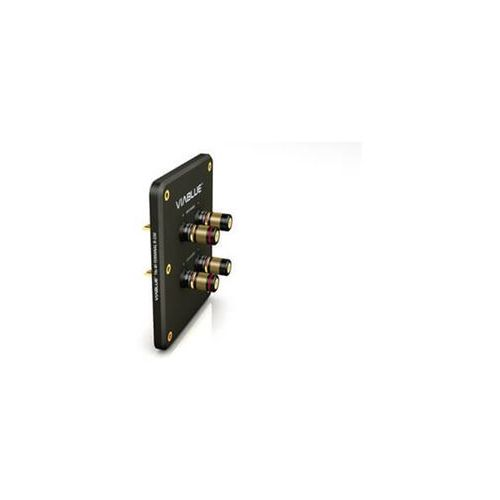 Viablue t6s bi-terminal r-150 black with binding post - terminal głośnikowy z gniazdami - black \ bi-wire