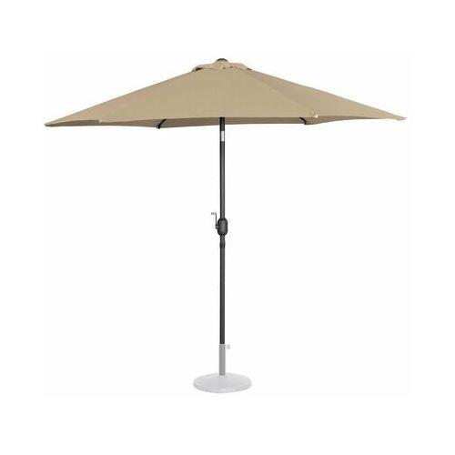 Uniprodo parasol ogrodowy - Ø270 cm - beżowy uni_umbrella_r270ta - 3 lata gwarancji