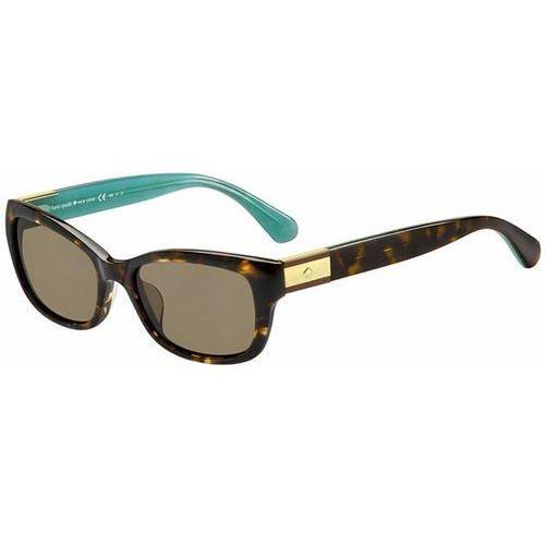 Okulary Słoneczne Kate Spade Marilee/P/S Polarized 0FZL/SP, kolor żółty