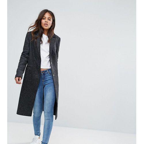 slim coat in wool blend - grey marki Asos tall