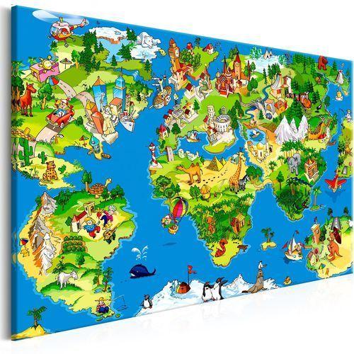Artgeist Obraz - dziecięca mapa (1-częściowy) szeroki