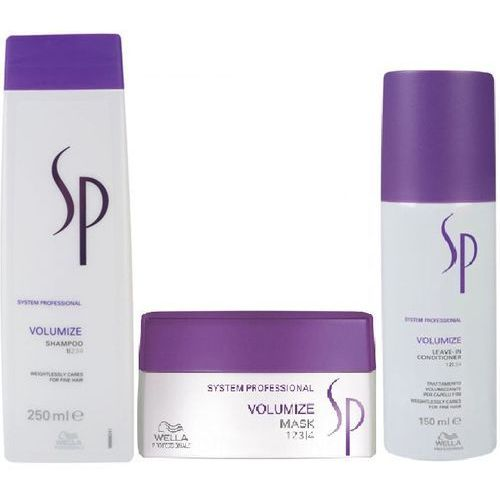 Wella sp  volumize szampon 250ml + maska 200ml + odżywka150ml