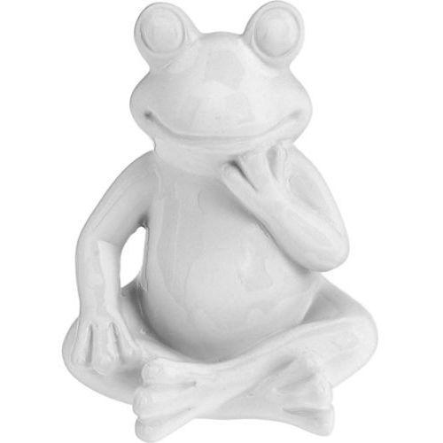 Ozdoba ogrodowa biała żaba - wys. 14 cm marki Progarden