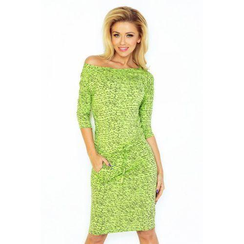 Sukienka model 13-50 light green napis, Numoco