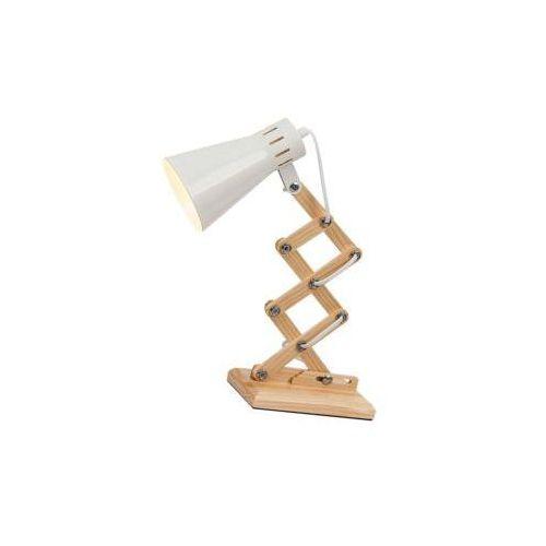 Lampka biurkowa edgar 1x25w biały marki Rabalux