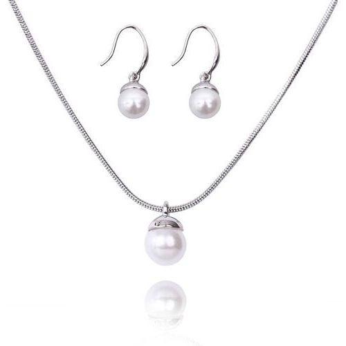 Komplet biżuterii z perłą: naszyjnik i kolczyki marki Polska