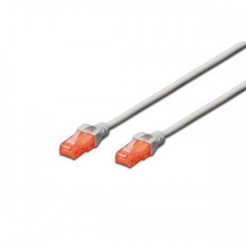 Digitus Patch cord U/UTP kat.6 PVC 1m szary