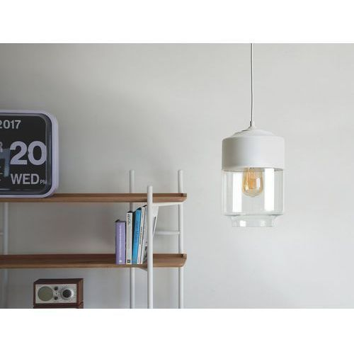 Lampa wisząca ze szkła biała i przezroczysta JURUA, kolor Biały,