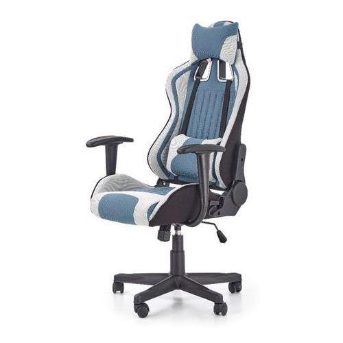 Kingston fotel gamingowy dla graczy jasny popiel - turkusowy marki Style furniture