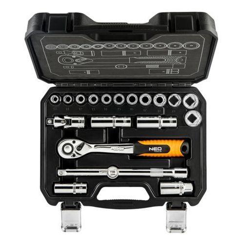 Zestaw kluczy nasadowych NEO 10 - 24 mm 1/2 cala 08-661 (20 elementów) (5907558417357)