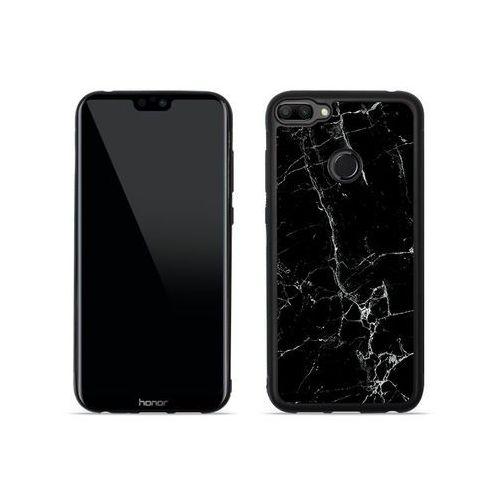 Huawei Honor 10 Lite - etui na telefon Aluminum Fantastic - czarny marmur