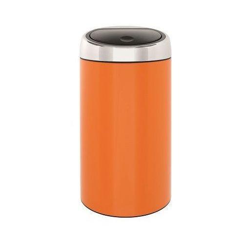 Kosz  touch bin 424625 / 45 l / stal nierdzewna / pomarańczowy, marki Brabantia