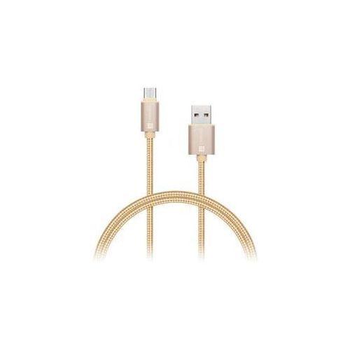 Kabel wirez premium usb-c, 1m (ci-666) złoty marki Connect it