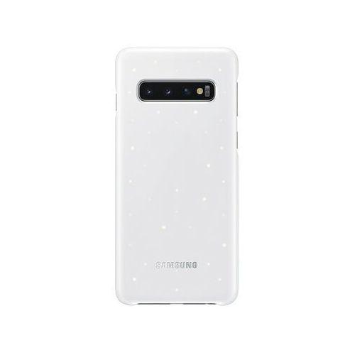 Etui SAMSUNG LED Cover do Galaxy S10 EF-KG973CWEGWW Biały, kolor biały
