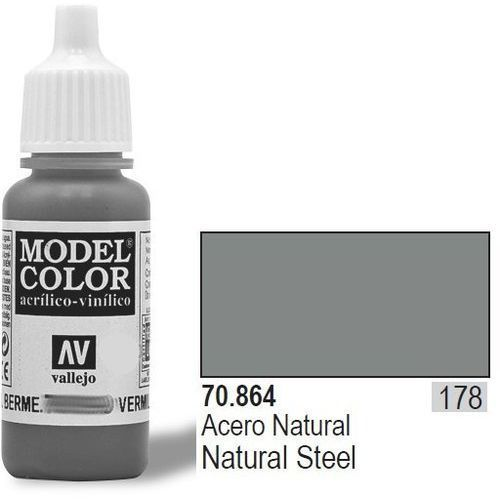 farba nr178 natu ral steel 17mlmetallic marki Vallejo