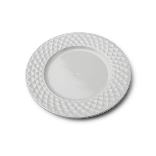 Mondex Talerz płytki obiadowy porcelanowy diamond grey