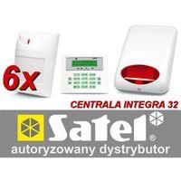Zestaw alarmowy integra 32, klawiatura lcd, 6 czujników ruchu, sygnalizator zewnętrzny spl-5010 marki Satel