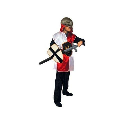 Bluza rycerza z kapturem czerwono biała dla dzieci - 116 cm