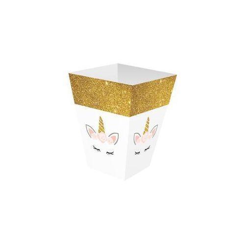 Pudełka na popcorn Piękny Jednorożec - 6 szt.