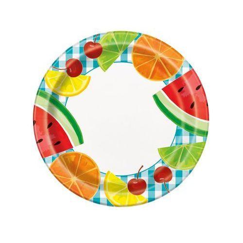 Talerzyki Hawajskie Owoce - 23 cm - 8 szt. (0011179210350)