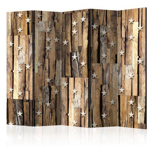 Parawan 5-częściowy - Drewniany gwiazdozbiór II [Parawan]