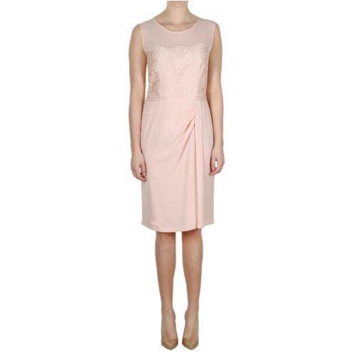 Sukienka blady róż (Kolor: różowy, Rozmiar: 44)