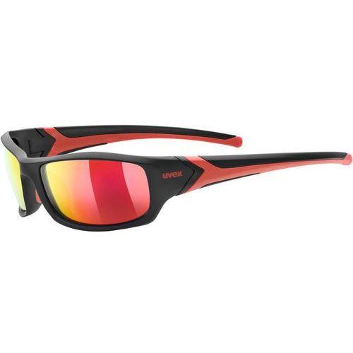 Uvex sportstyle 211 pola okulary rowerowe czerwony/czarny 2019 okulary sportowe