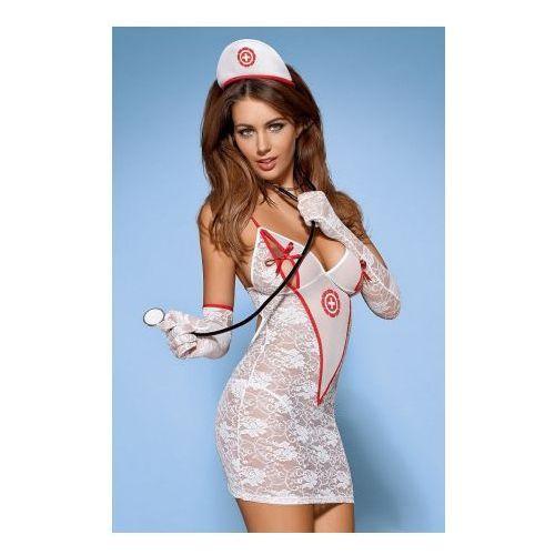 Medica sukienka kostium 5-częściowy + stetoskop S/M (5901688202999)