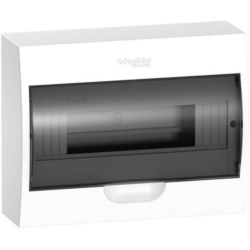 Schneider electric Rozdzielnica modułowa 1x12 natynkowa ip40 drzwi transparentne easy9 ez9e112s2s schneider (3606480768385)
