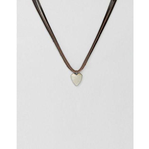 leather pendant necklace - black marki Aldo