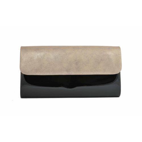 Torebka kopertówka lakierowana czarna